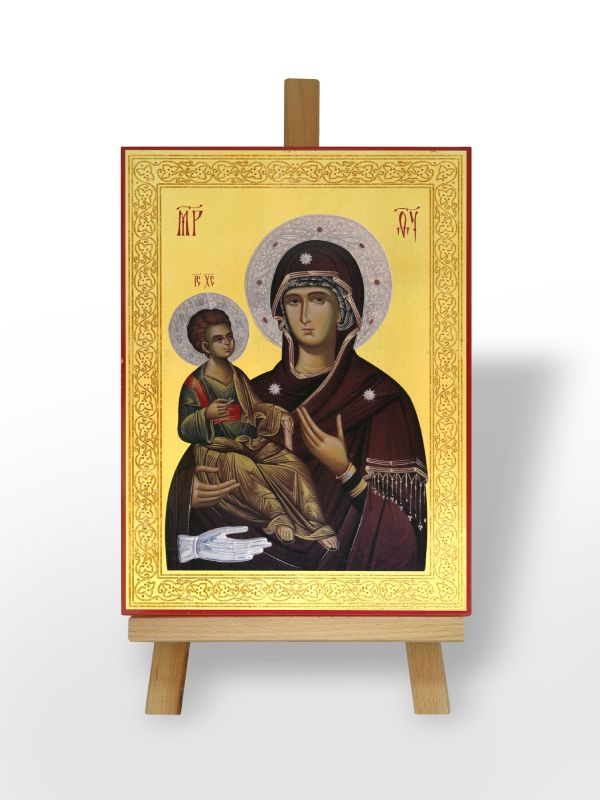 Presveta Bogorodica Trojeručica  sa Gospodom Isusom Hristom (36x26)