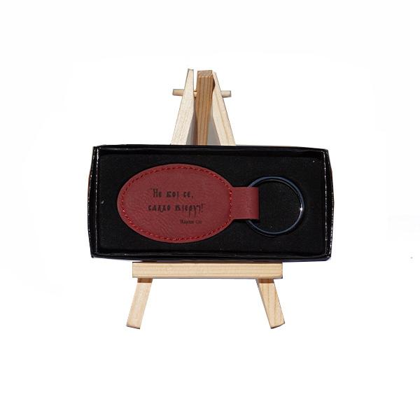 Crveni privezak za ključeve