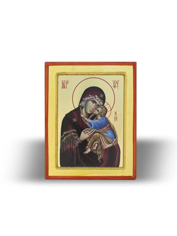 Presveta Bogorodica Dečanska sa Gospodom Isusom Hristom (15×11)