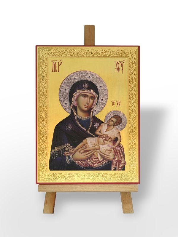 Presveta Bogorodica Dušespasiteljnica sa Gospodom Isusom Hristom (36x26)