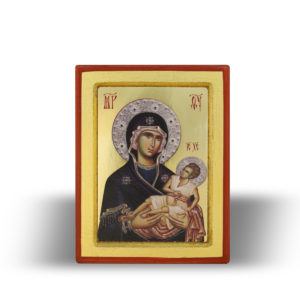 Presveta Bogorodica Dušespasiteljnica  sa Gospodom Isusom Hristom (15×11)