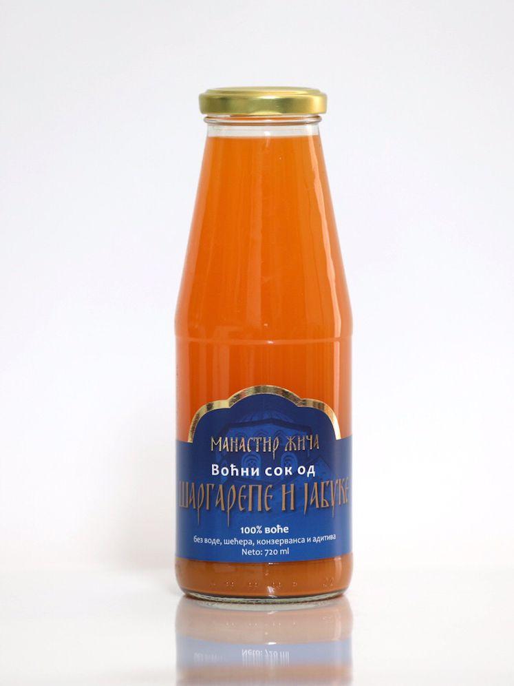 Сок од шаргарепе и јабуке 0,72л