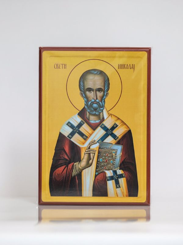 Sveti Nikolaj Mirlikijski, Kaširana ikona, A4