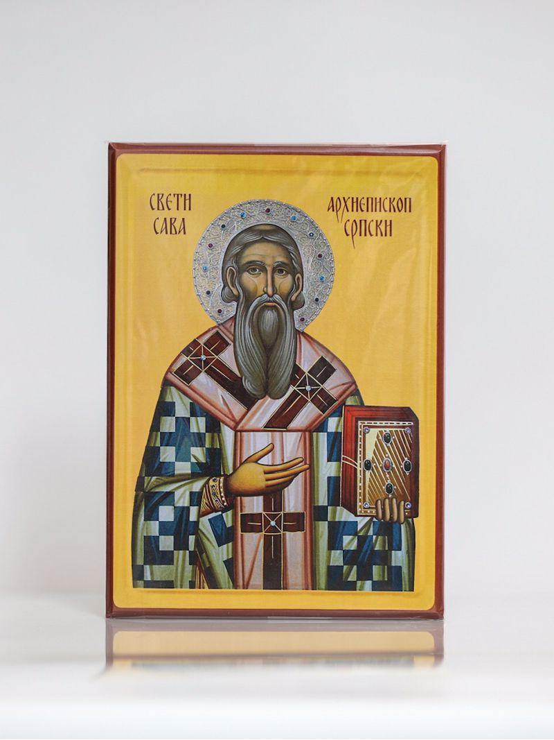 Sveti Sava, Arhiepiskop Srpski, Kaširana ikona, A4